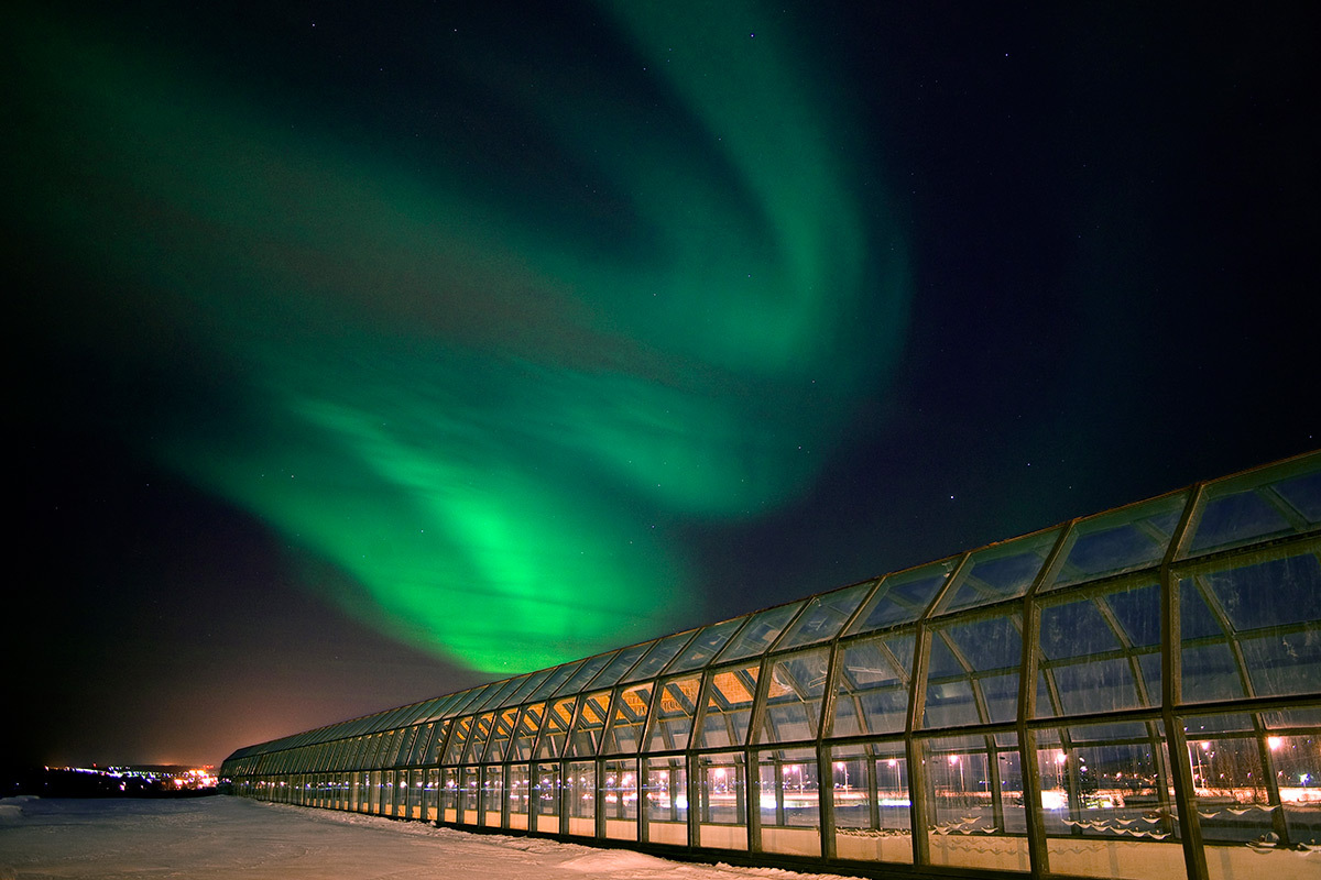 Northern lights in Rovaniemi Finland