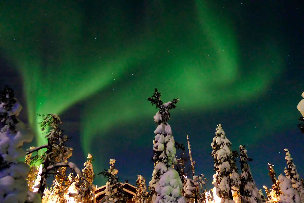 Norhern lights Ruka Finland