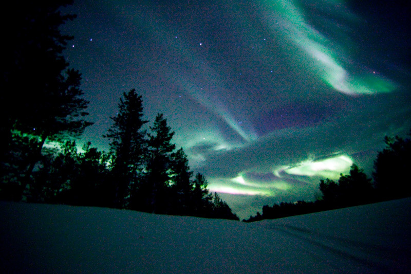 Northern Lights in Pallas Lapland