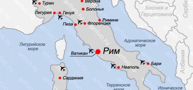 Yuzhnaya Italiya Goroda Podrobnaya Karta Regiona Na Russkom